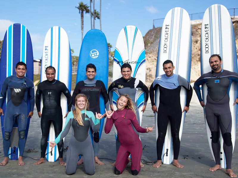 Group Surf Lesson Parties with Wavehuggers