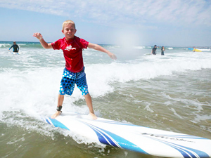 surfing lessons for kids and children