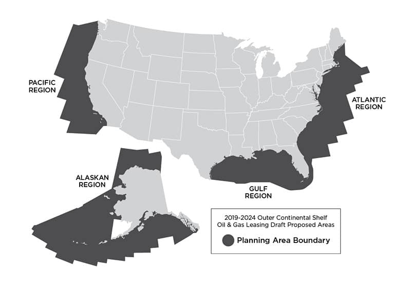 Offshore Oil Drilling Map
